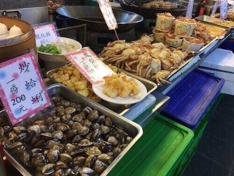 Night market seafood