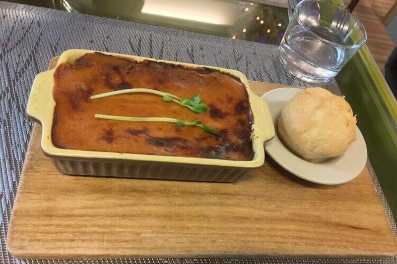 Vegan lasagne dish