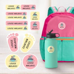 Label all kids belongings with Veryverysticky labels