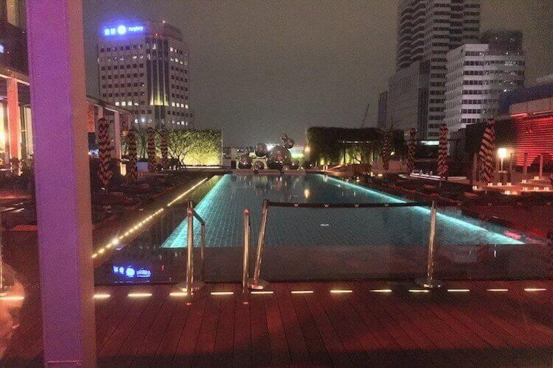 WooBar outdoor pool