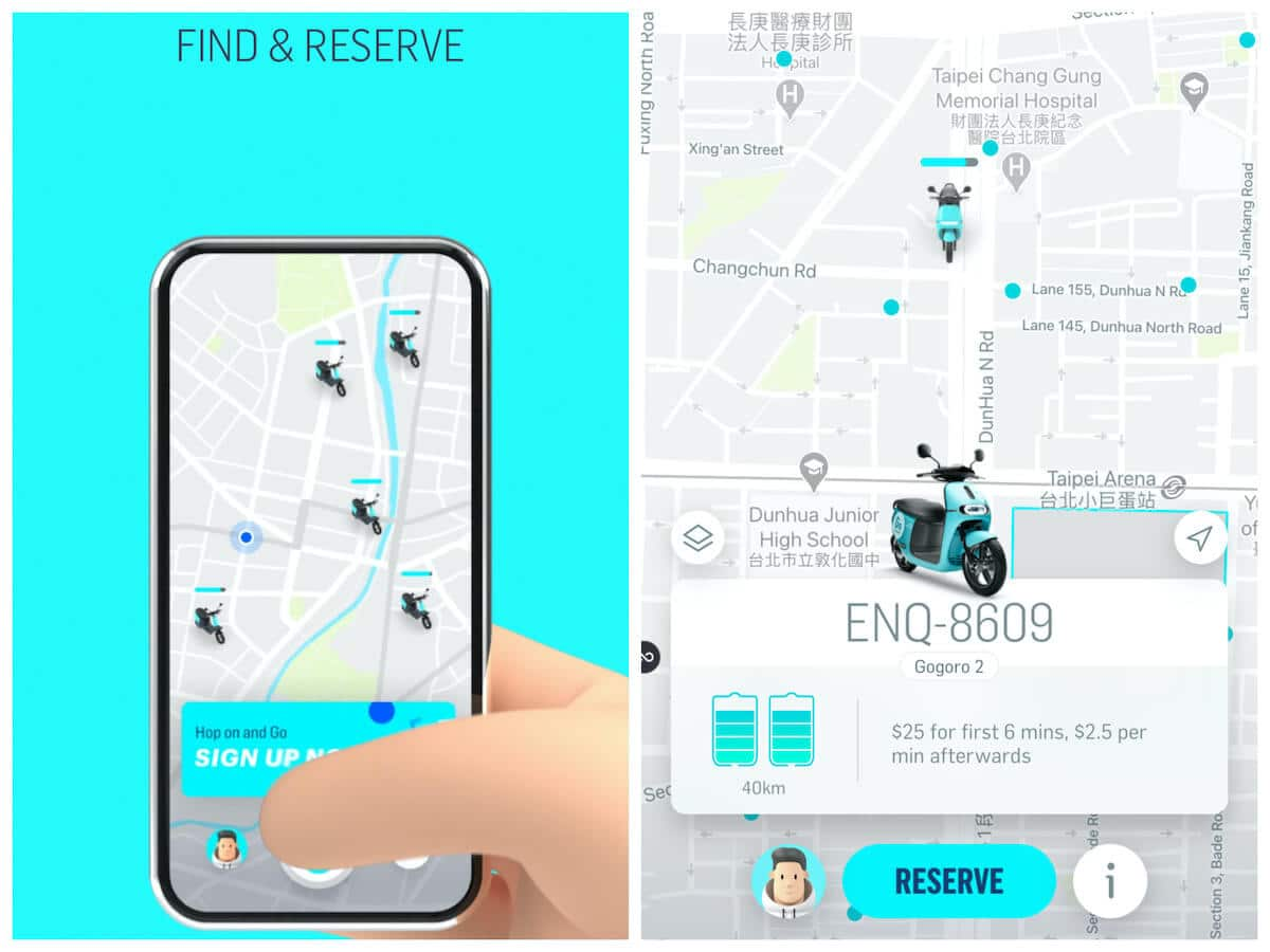 Find and reserve a scooter