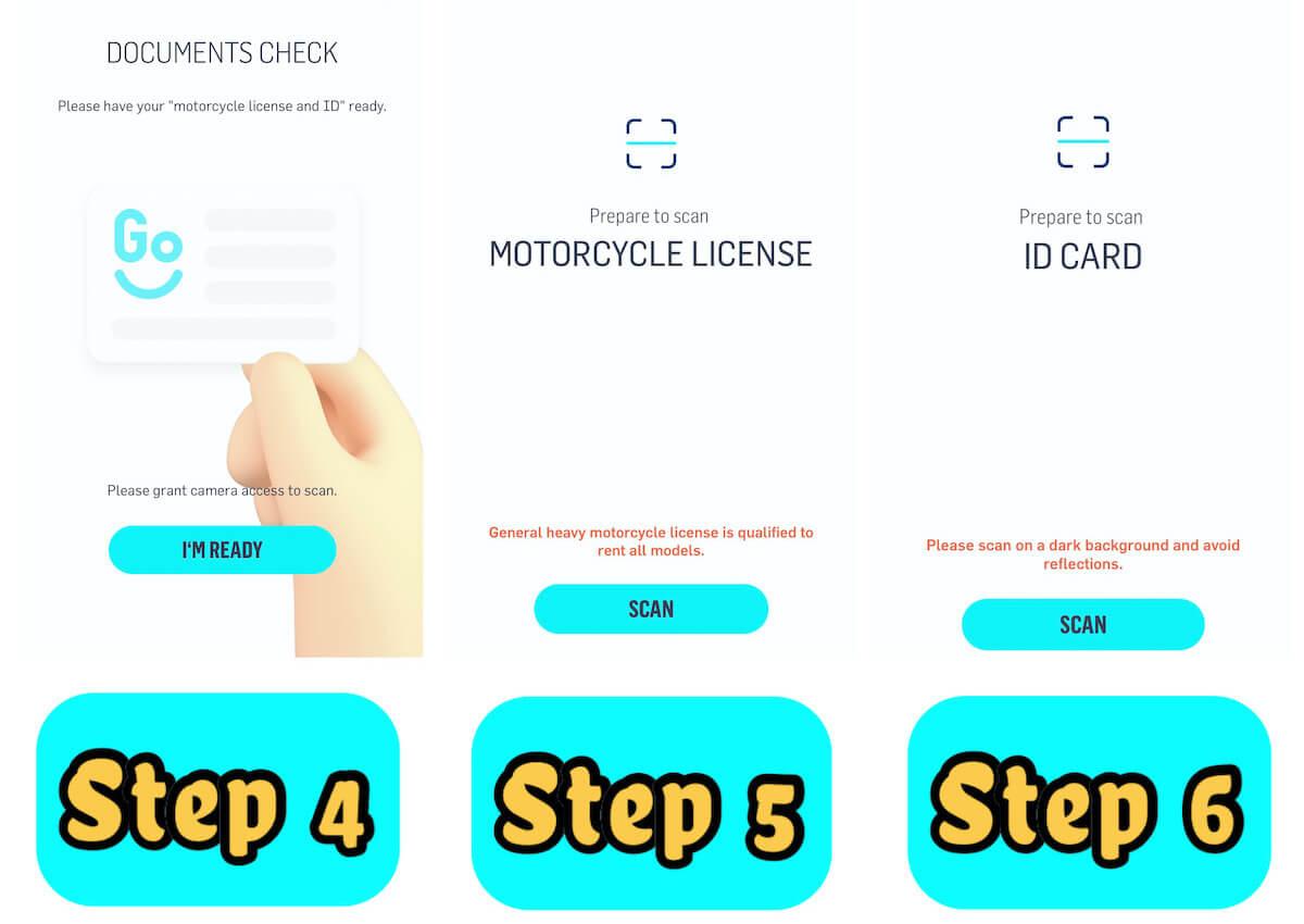 registration steps 4 to 6