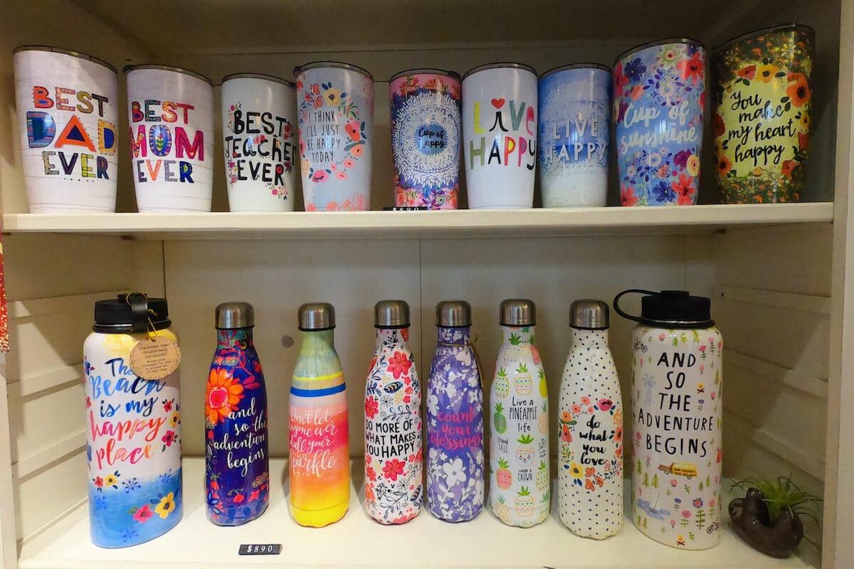 Water bottles shelf
