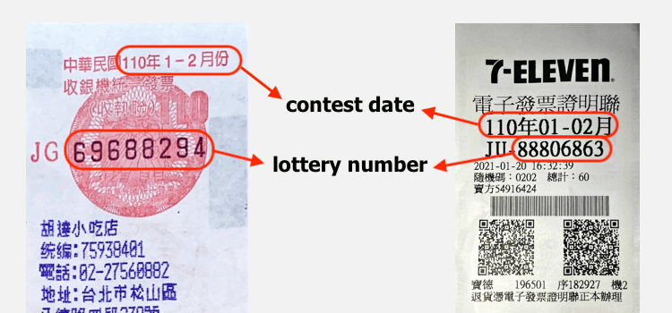 Receipt Contest Date & Lottery Number