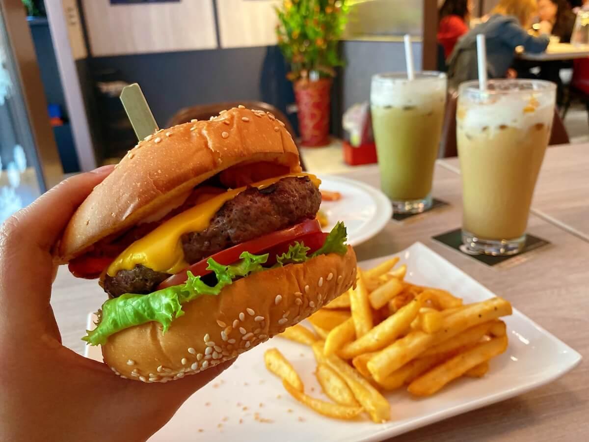 Classic Grilled Burger focused