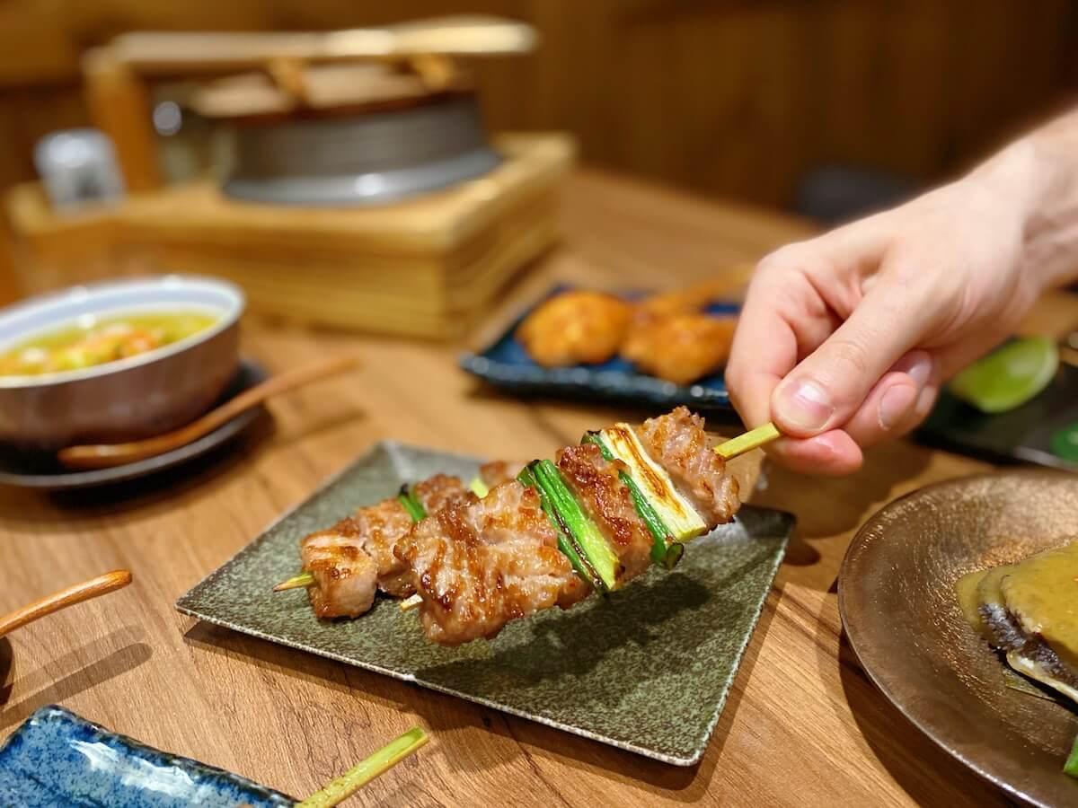 Grilled Pork Rib Skewers