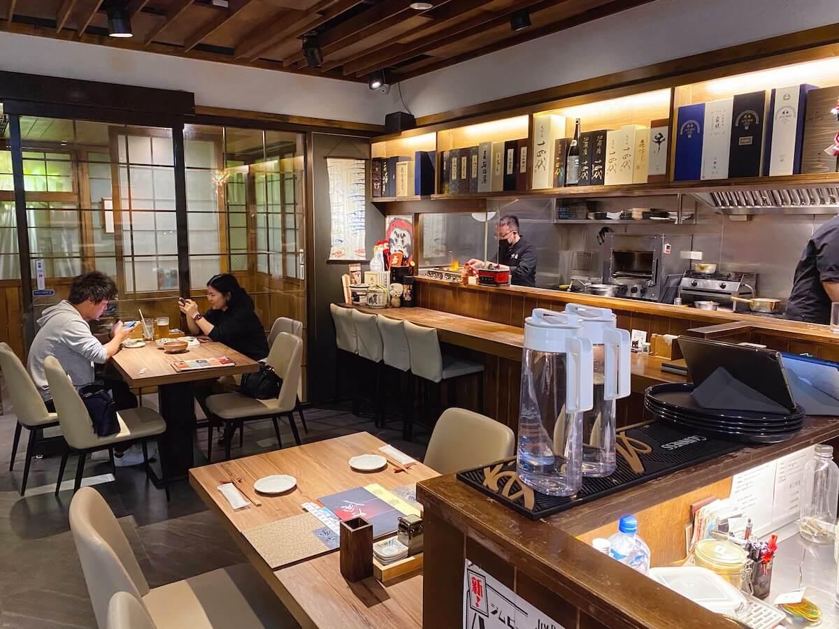 Japanese restaurant inside