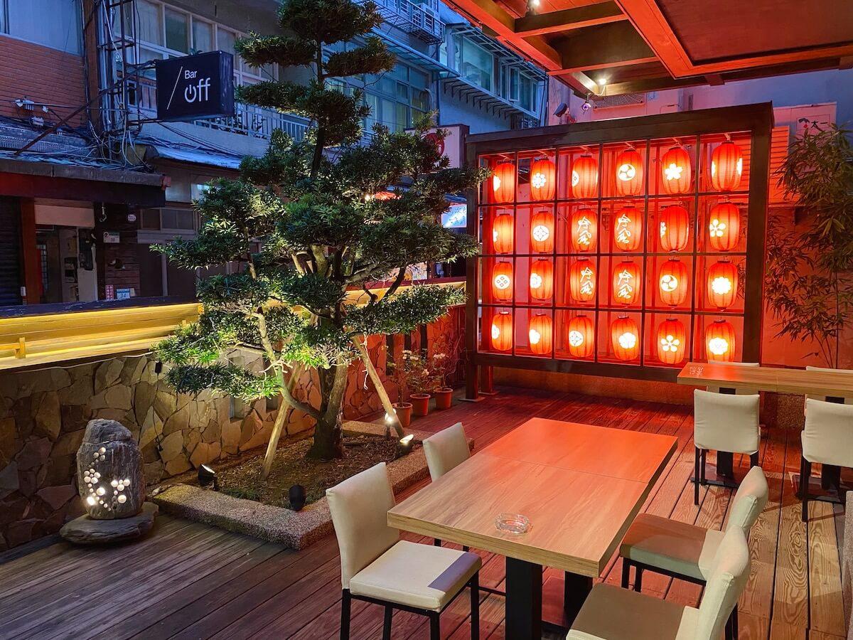 Japanese restaurant outside