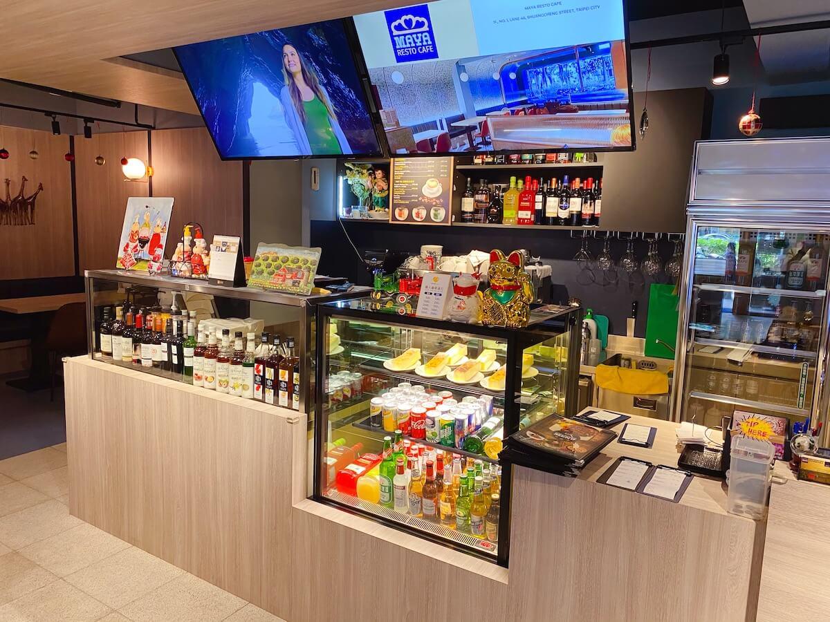 Maya Resto Cafe front counter