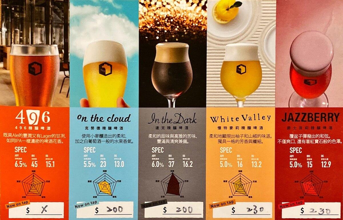 On tap beer menu