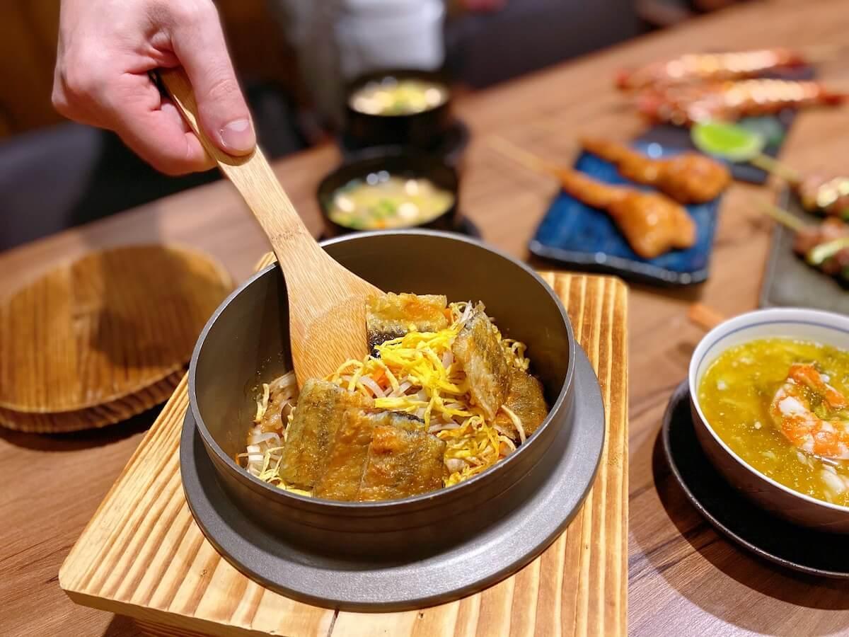 Pot Eel Vegetable Rice