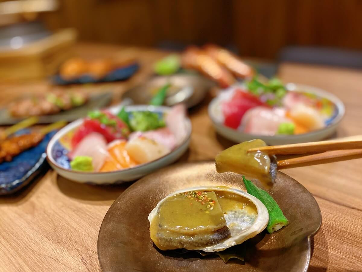 Steamed Abalone with Liver