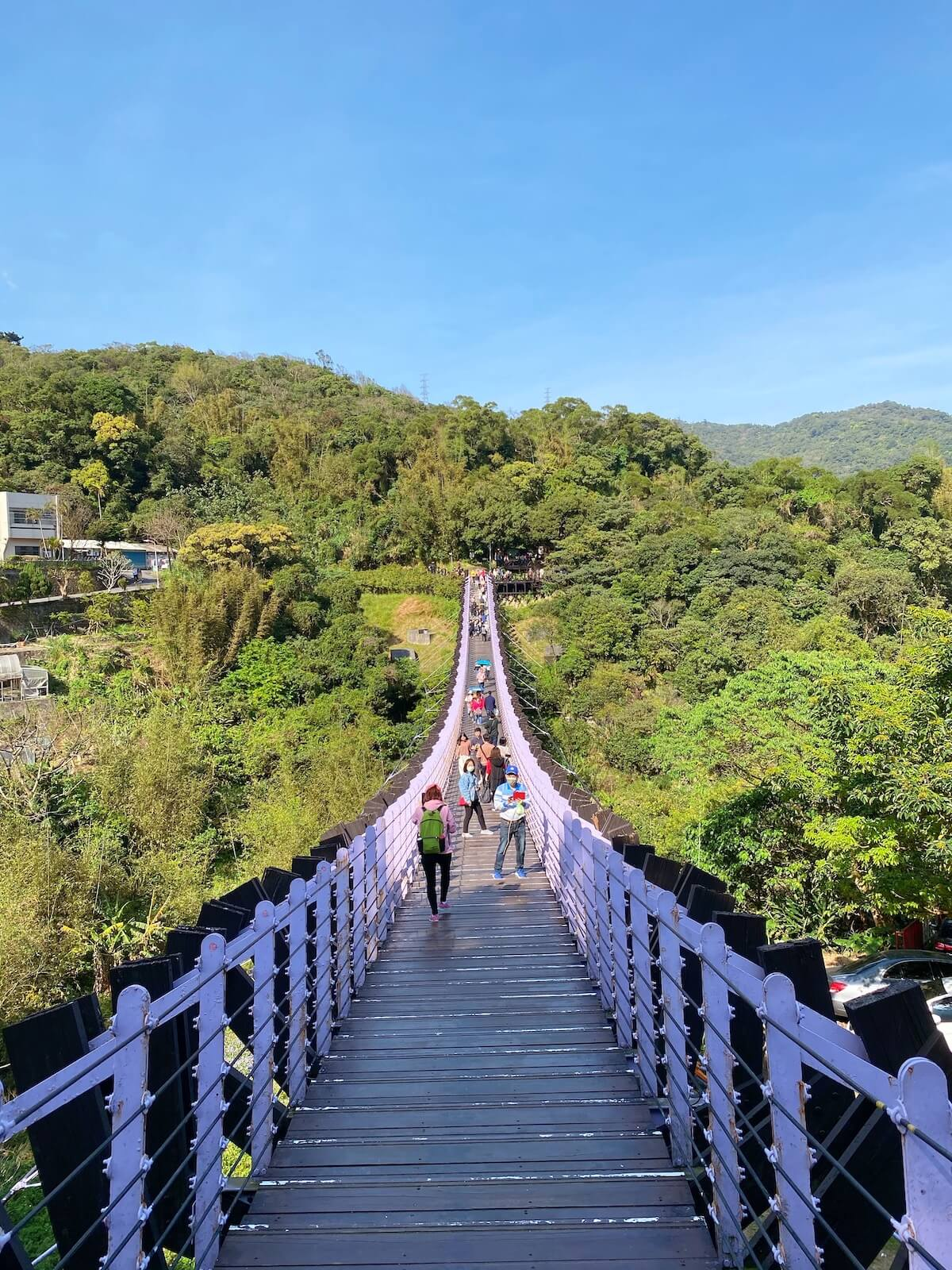 Baishihu Suspension Bridge front side