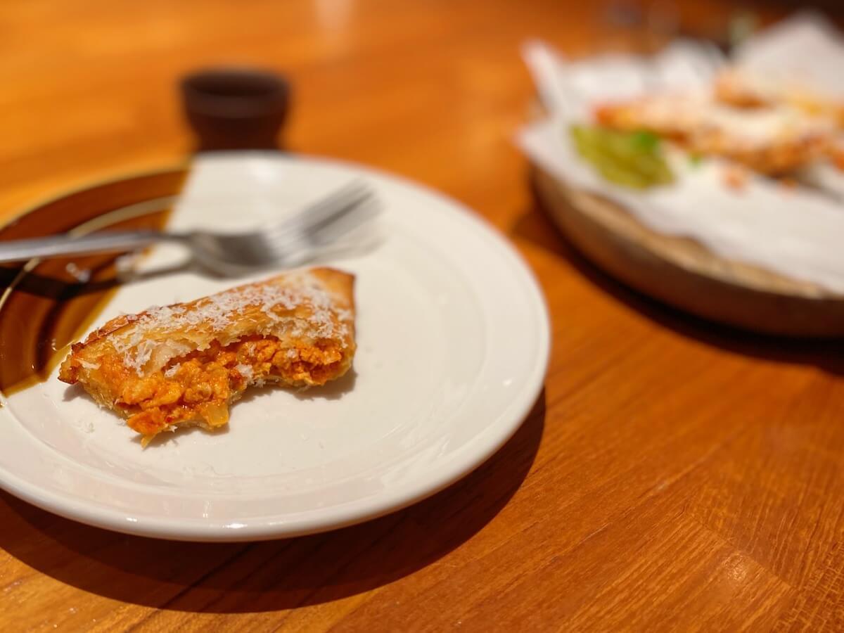 Quesadilla with Kimchi Chicken (inside)