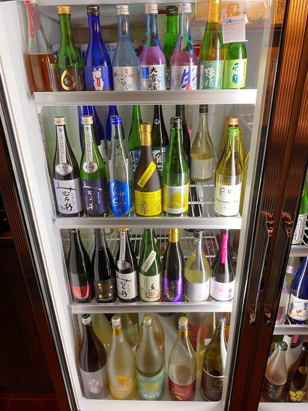 Sake refrigerator (left)