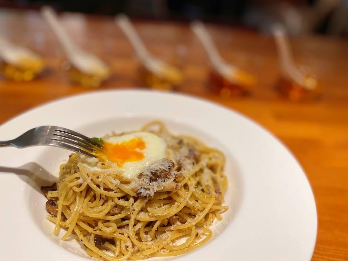 Spaghetti with Truffle (egg focused)