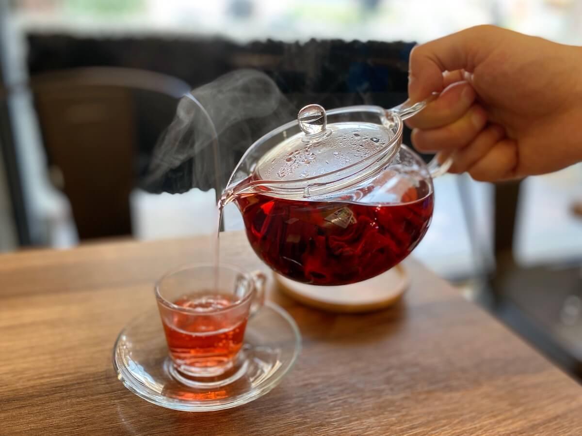 Organic Herbal Tea Poured