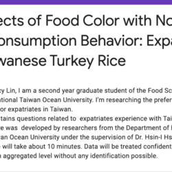 A Research Survey of Expatriate Taiwan