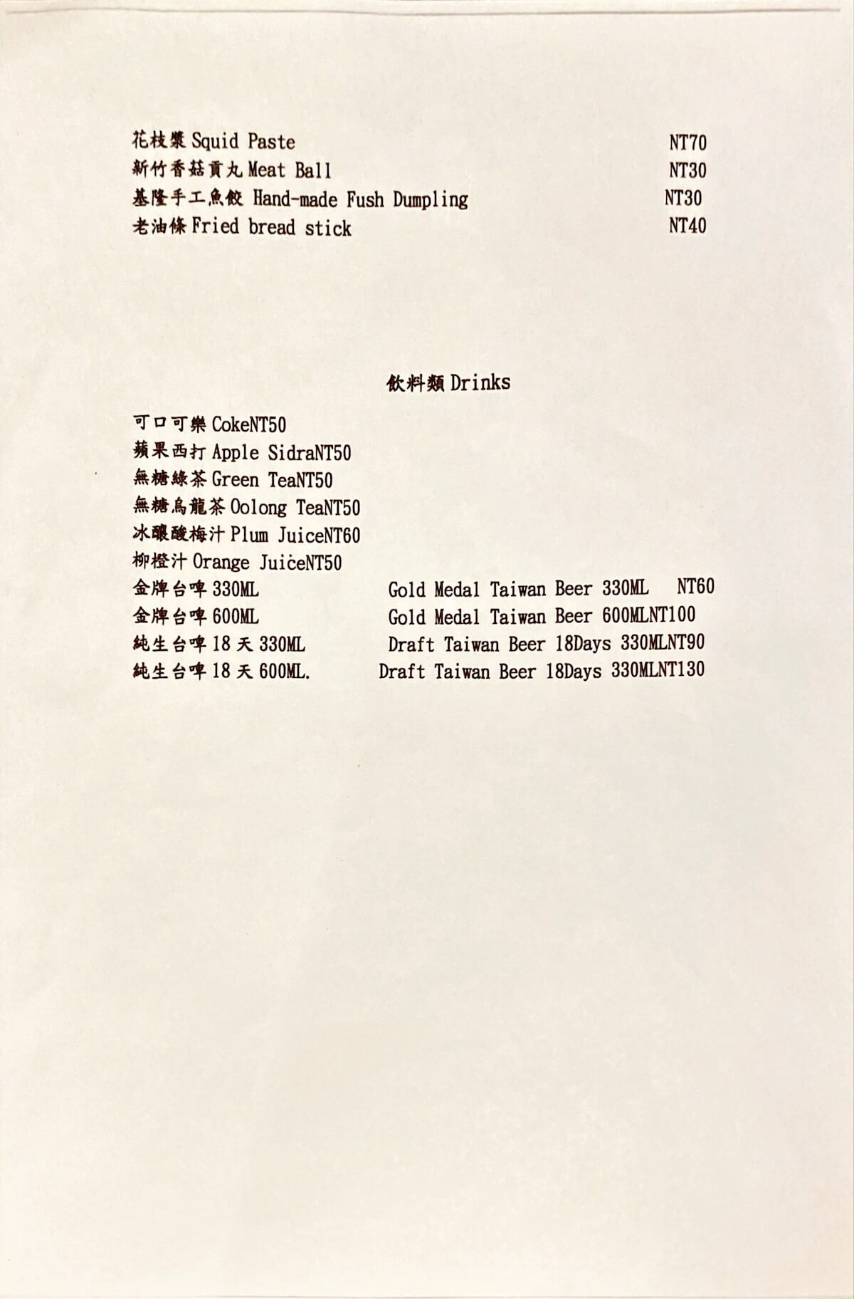 Popular item list