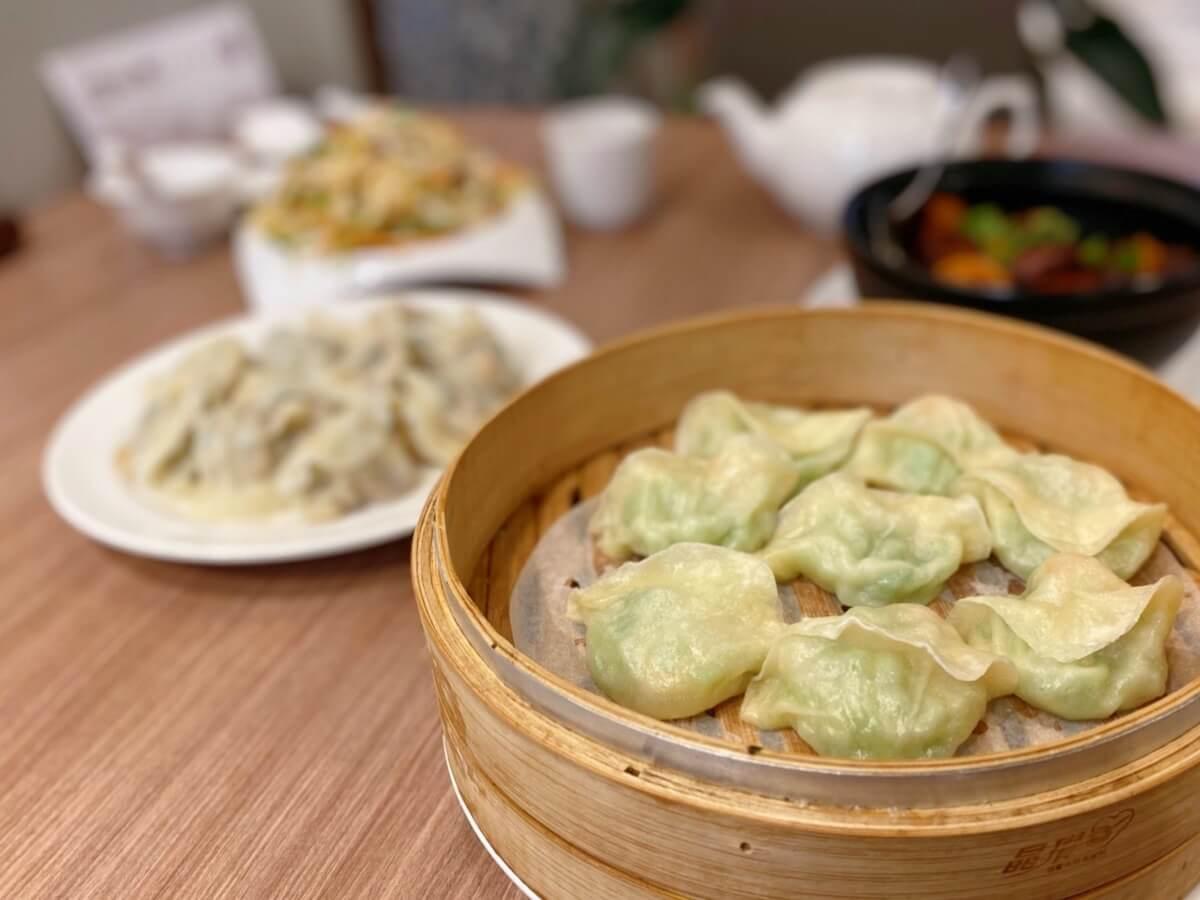 Loofah and shrimp steamed dumplings