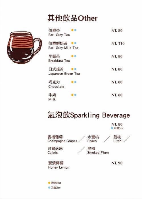 Other items and sparkling beverages