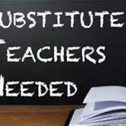 One Substitute Teacher is Required