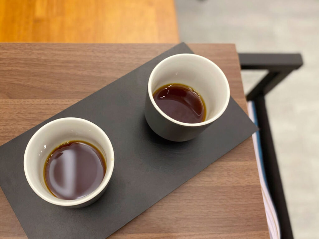 Pour over coffees