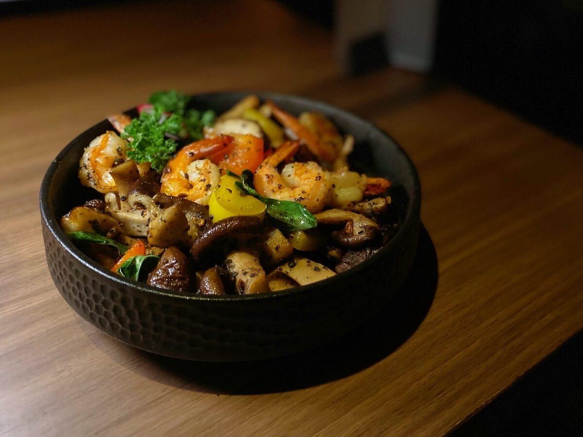 Sauteed Shrimp and Mushroom
